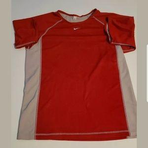 Nike Mens Dri Fit Reversible Shirt red/grey
